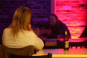 Seth Yacavone held the crowd's attention at Parker Pie on Thursday night.