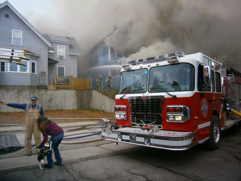 Images From Newport Fire Thursday Afternoon