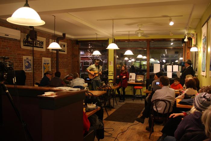 Sound Bites: Newport's Third Thursday Open Mic Night at Montgomery Cafe [AUDIO]