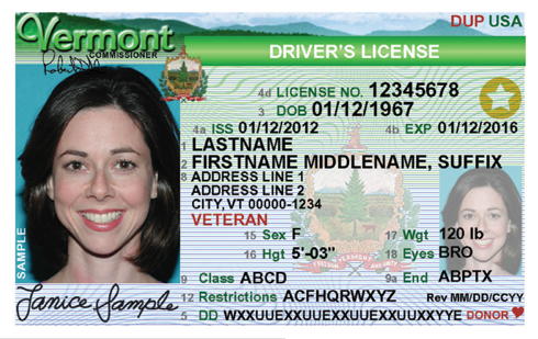 REAL ID Cards Issued at Vermont DMV Jan. 2