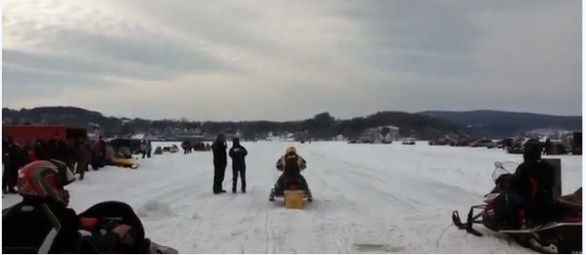 Video Highlights from the Fire and Ice Radar Run Snowmobile Event with Results