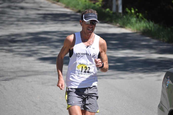 Photo's are of Christian Vachon at the finish of last year's Dandelion Run, which he won with an impressive time of 1:19:23. All photos courtesy of Kingdom Games.