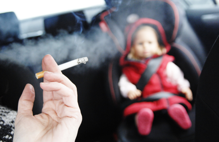 bill to ban smoking in car with kids vermont