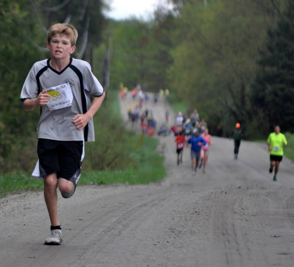 Austin Giroux, third place male overall and winner in the 12 and under category on the 10K course. All photos courtesy of Phil White.