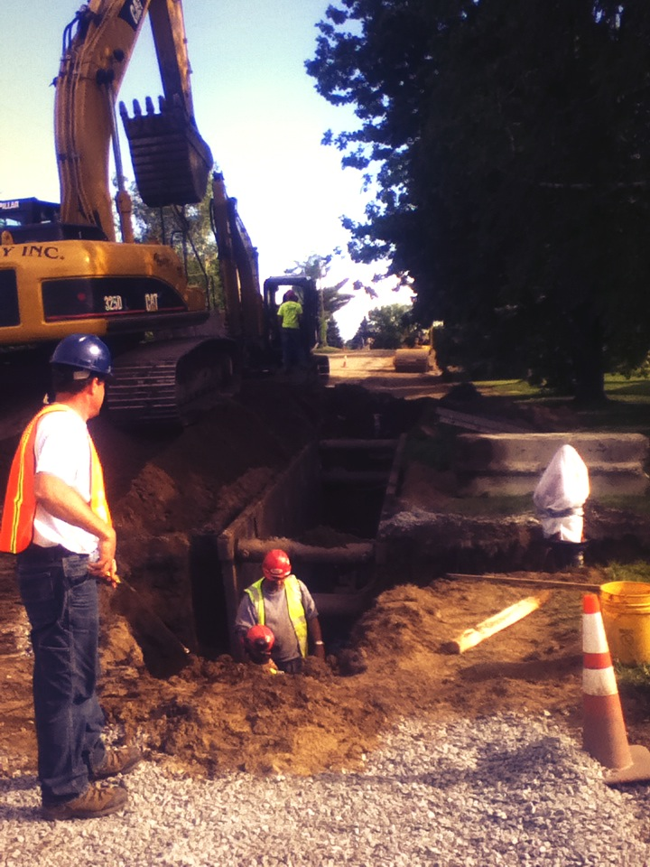 derby line water line project