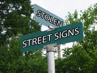 street signs stolen in lowell vermont