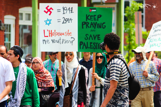 Nearly 300 march in solidarity with Gaza in Sherbrooke