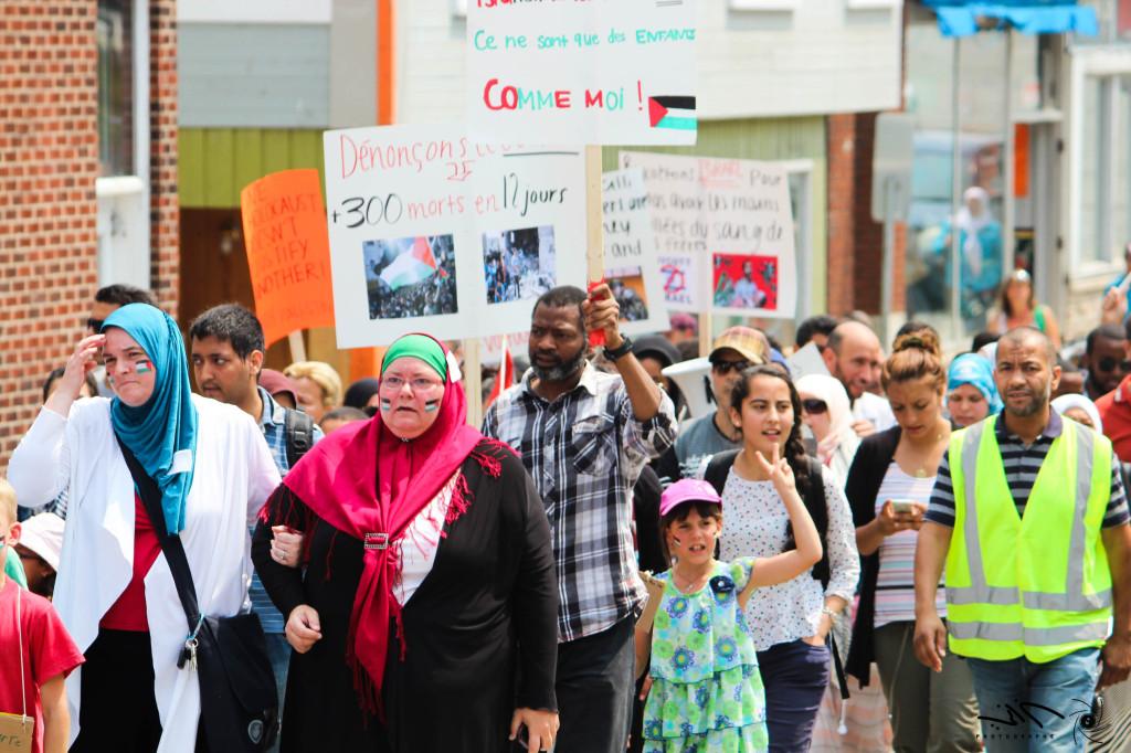 Sherbrooke protest for Gaza Quebec 3