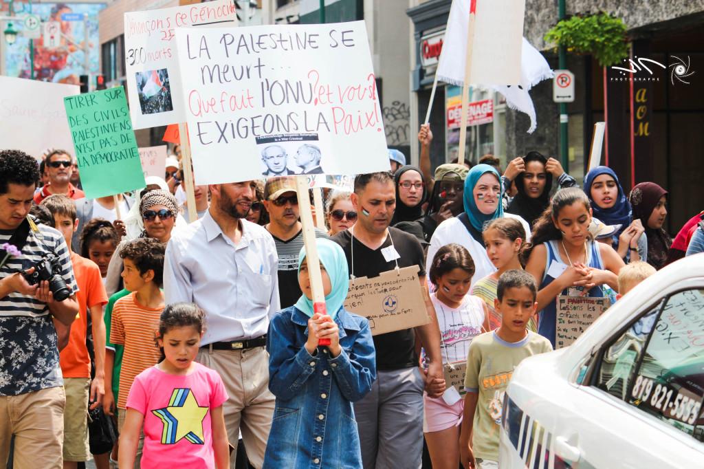 Sherbrooke protest for Gaza Quebec 1