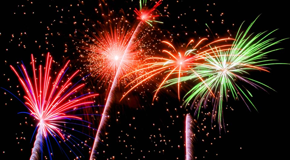 Fireworks Newport, Vermont Orleans County Forth of July times