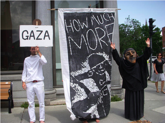 Bread and Puppet Theater stages Gaza protests