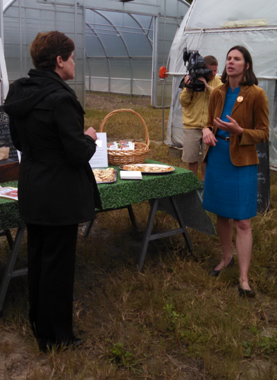 Katherine Sims, Founder and Executive Director of GMFTS, in Burlington on Friday to receive their recent USDA grant.