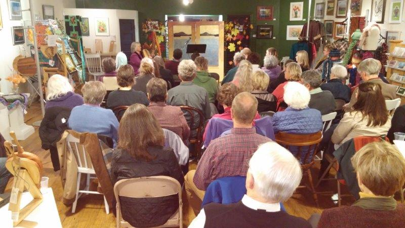 An attentive crowd at Muse-ical Harvest, MAC Center for the Arts