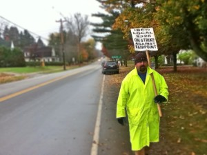 Fairpoint Workers protest in Newport Vermont