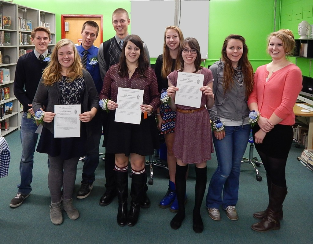 Lake Region Union High School students honored for academic achievements.