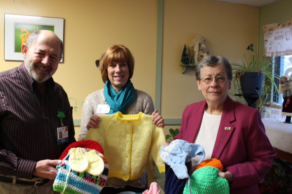 (Left to Right) Bruce Muir, RN, Wendy Franklin, Director of Development at NCH and Madeleine Roy, Director of Marketing for GMUW.