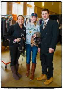 Students trying on business attire during 2014's Dressed For Success event at Lyndon State College.