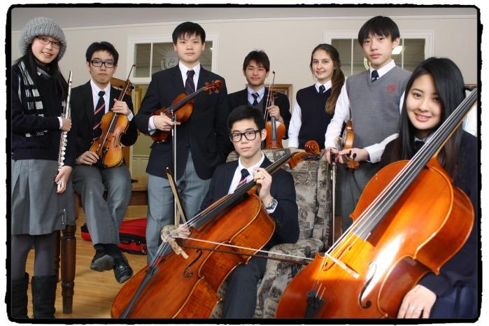 The Stanstead students from left to right: Julia Gou, Pengyi Huang, Bob Chen, Aki Takeda, Ricarda Wingler, Paul Teng, Carson Son, Momo Takaoka.