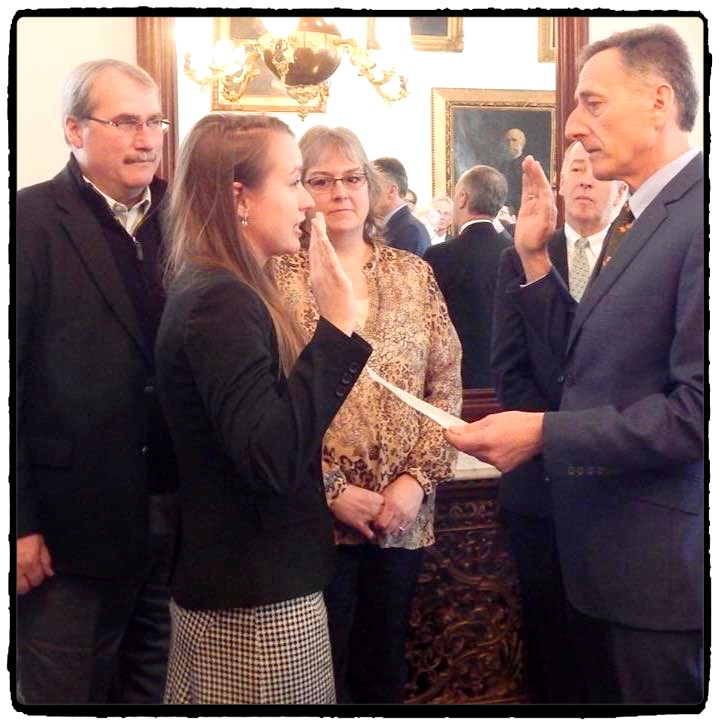Jennifer Barrett was sworn in as Orleans County State's Attorney at the State House on Friday. Photo by Scott Wheeler.