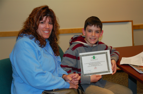 Monique Hilliker and son Dominic, a student at North Country Union Junior High School, both attended the ATV safety training course.