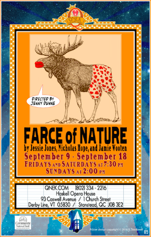 Farce of nature qnek 39 s final mainstage show of the season for Farcical webster