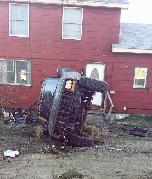 Police: 22-year-old arrested after crashing Jeep into Danville home