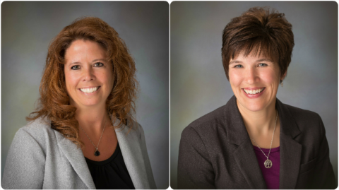 Jennifer Daigle (L) and Tracy Roberts (R) were recently promoted at Community National Bank.
