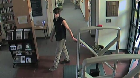 Campus security is looking to identify the man in the photo.