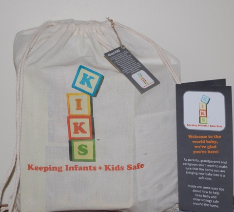 The KIKS Bag, an idea of Beth Barnes from Newport,  includes products and information that could help safeguard any home where children live or visit.