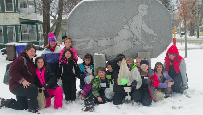 Derby Elementary School third graders sweep into Canada