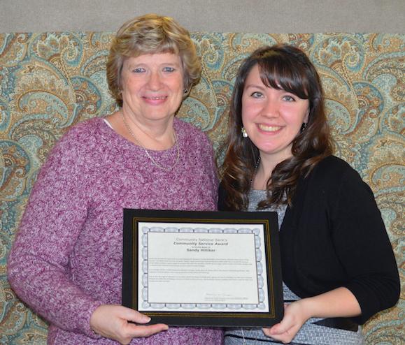 Sandy Hilliker receives Community Service Award
