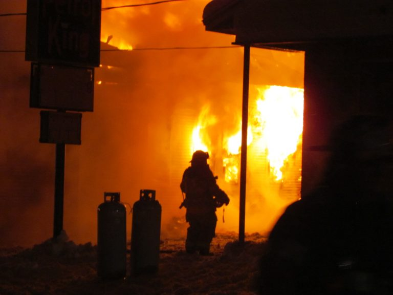Fire crews battle fire in Albany