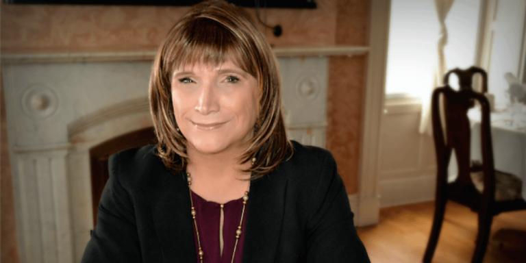 Christine Hallquist speaking at Parker Pie on Wednesday
