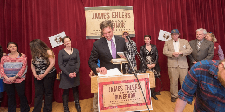 Democratic candidate for Governor James Ehlers at Parker Pie this Thursday