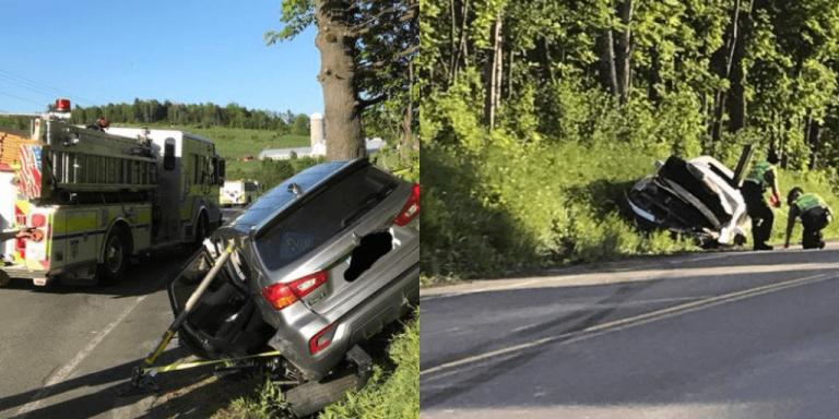 Two-car crash in Troy