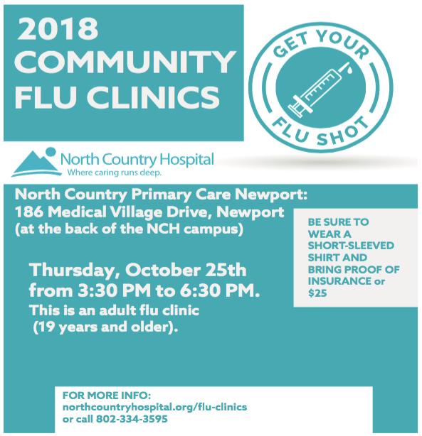 [CLICK] Upcoming Community Flu Clinics