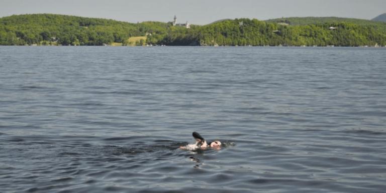 70-year-old sets records in 25-mile Lake Memphremagog swim