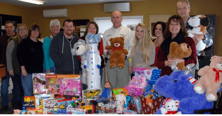 Fred's Energy helped collect toys for local holiday toy drives