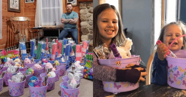 North Troy man delivers over 104 Easter baskets to local kids