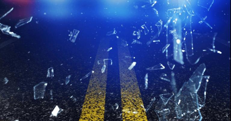 Single-vehicle crash with injury, Derby