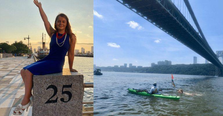 Local marathon swimmer completes swim around Manhattan