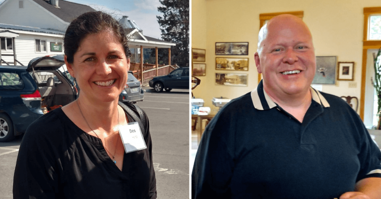 Des Hertz of Burke and Mike Strait of Brighton given Vermont Community Leadership Awards