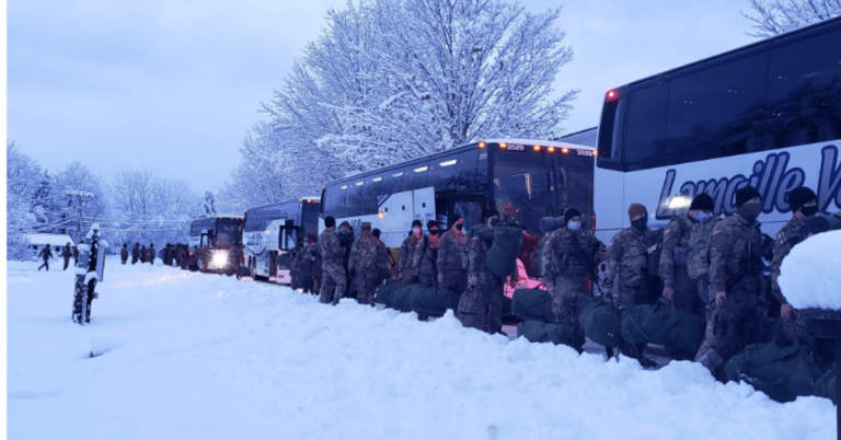 Vermont National Guard leave for Washington, DC