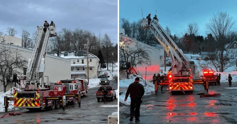 Fire at Ethan Allen Mill, worker injured