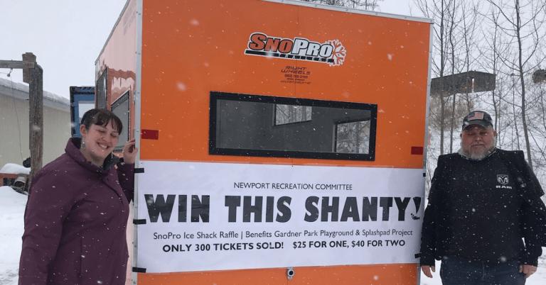 David Perron of Glover wins $5K ice shack