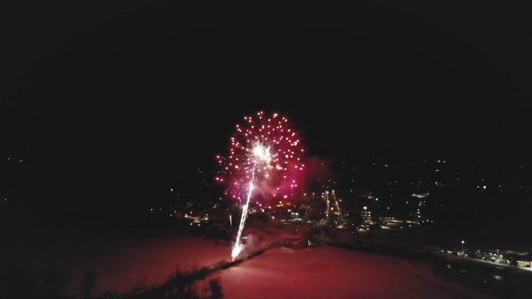Fireworks over Lake Memphremagog