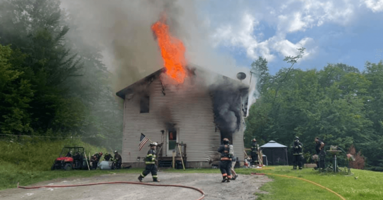Fire in Irasburg