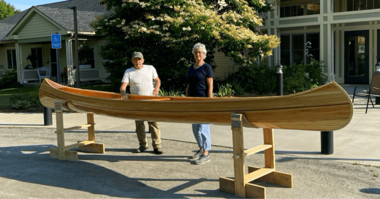Local artisan offers handcrafted canoe for Craftsbury Care Center raffle