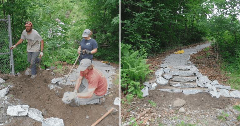 Stewardship work improves portage trails along Clyde River in Newport, West Charleston